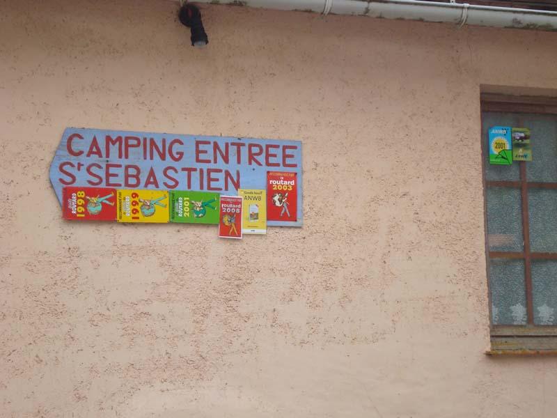 Entrée du camping